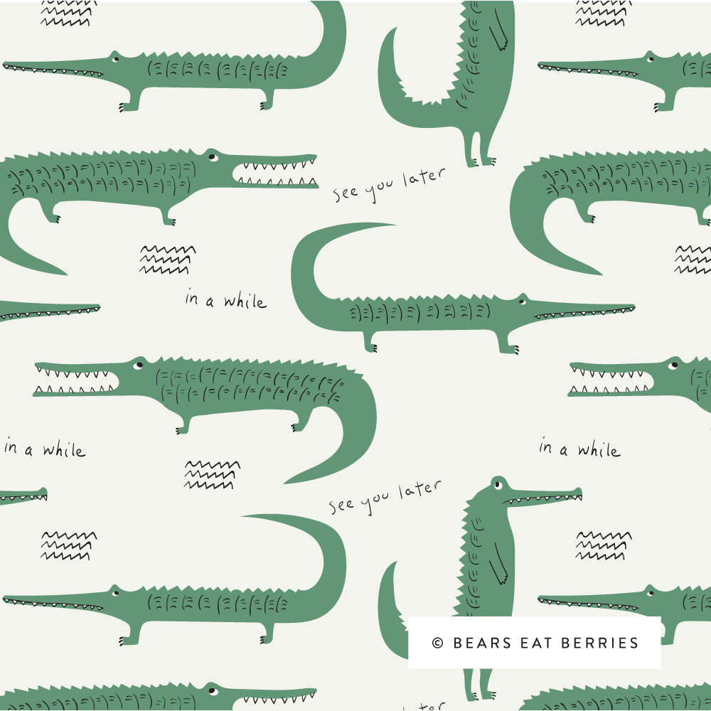 alligators and crocodiles pattern