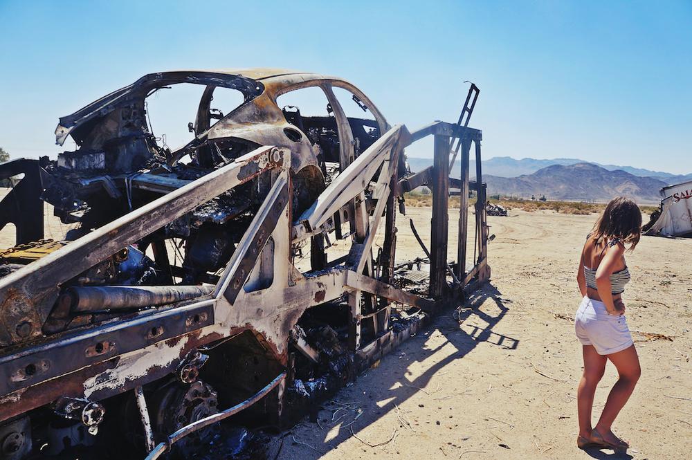 Luxury cars burn, too.