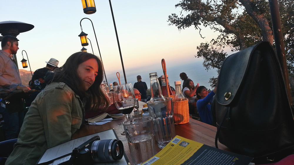 Nepenthe Restaurant is a must. This circular restaurant offers breathtaking views no matter where you're sitting.