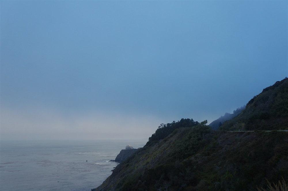 Foggy morning in Big Sur.