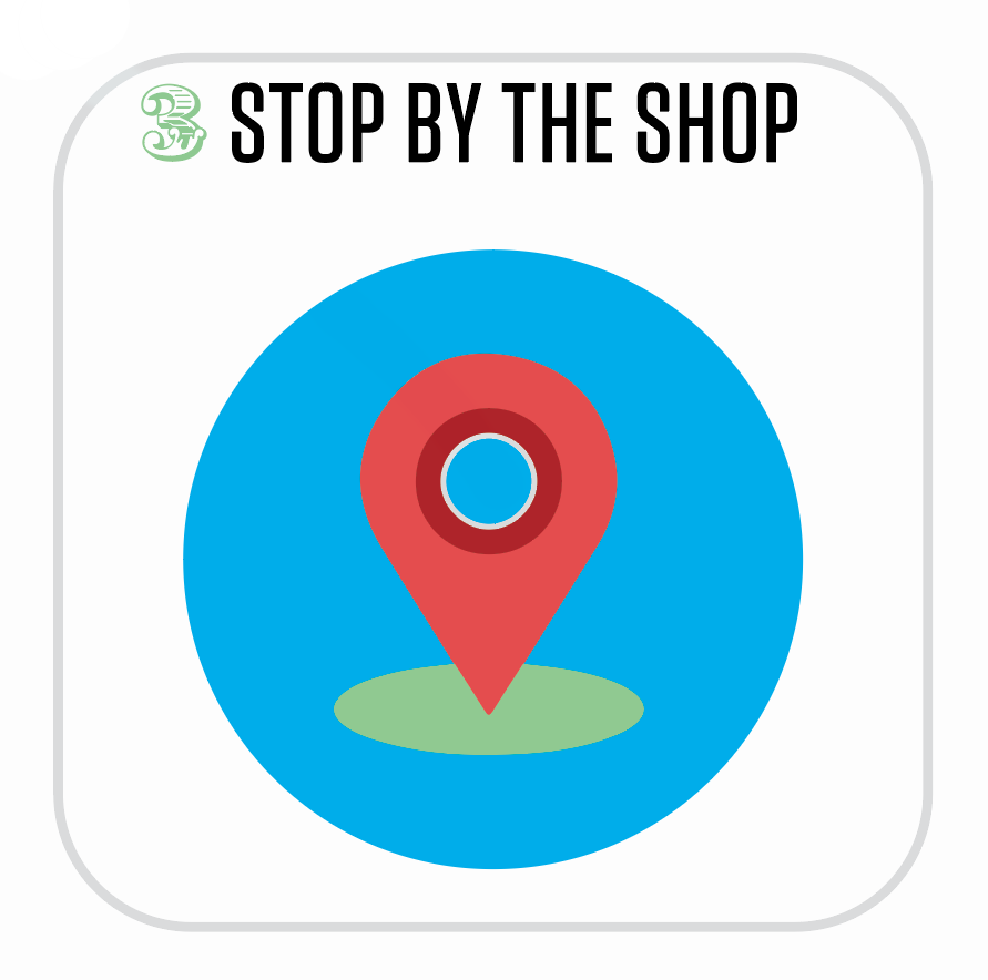 Step: 3 - Come to the Green Pea Press Screen Shop location to meet us face-to-face and finalize the campaign process. This step is crucial, allowing you to choose your products in person, as well as begin a one-on-one relationship with us.