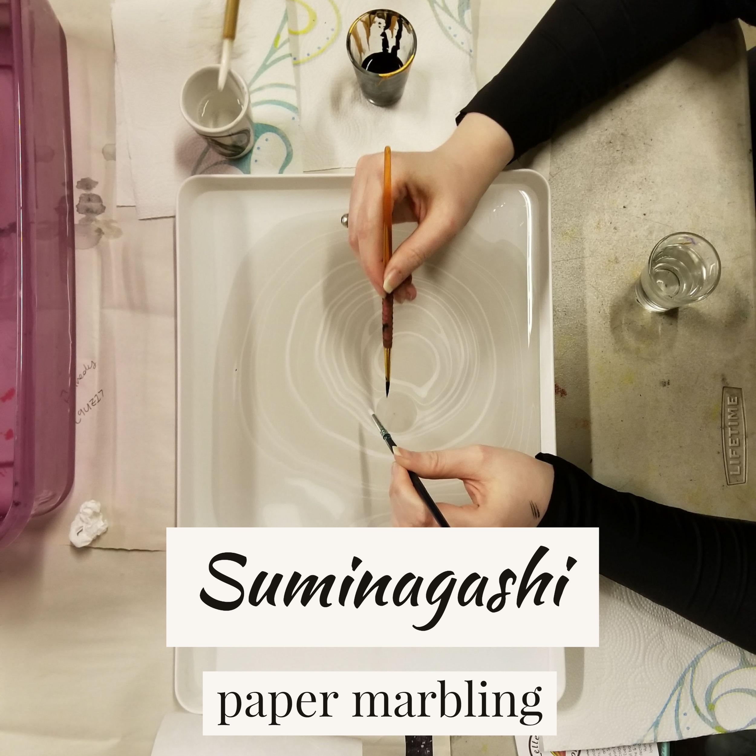 Suminagashi: Paper Marbling @ Green Pea Press Studio 122 | Huntsville | Alabama | United States