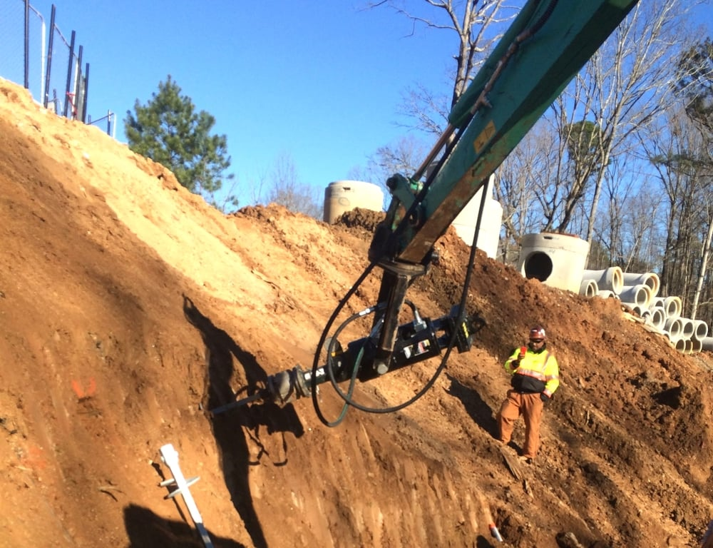 MSE Retaining Wall Foundation Vertical Support