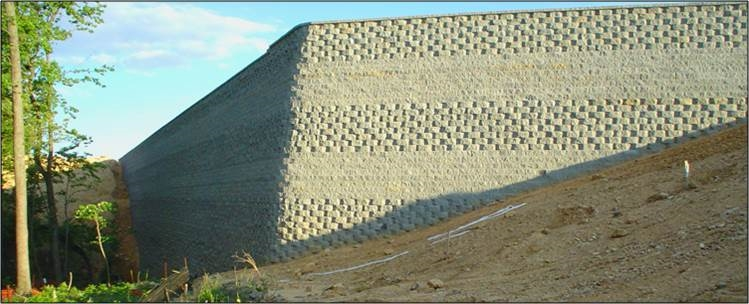 MSE Segmental Retaining Wall
