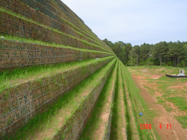 MSE Vegetated Wire Face Retaining Wall