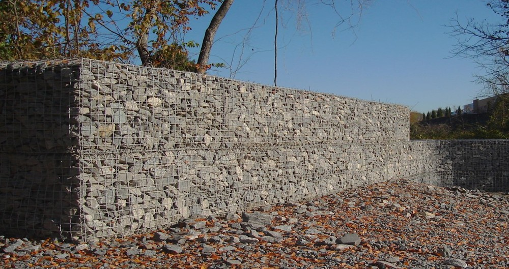 Pinnacle design build group inc gabion retaining walls Gabion wall design