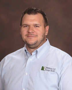 Kris Knier serves as a Sales Engineer for Pinnacle Design/Build. Mr. Knier is responsible for the estimating and engineering phases for all projects. Mr. Knier obtained a Bachelor of Science in Civil Engineering and a Minor in Environmental Engineering from the Pennsylvania State University in 2009. He is currently an Engineer in Training (E.I.T.) in the State of Pennsylvania. Mr. Knier brings over six years of experience in civil engineering design and construction oversight of mechanically stabilized earthen berms and slopes, geosynthetics liner systems, storm water management structures, landfill gas extraction, leachate conveyance system construction, and mechanical processing and testing of earthen/quarry materials.  kknier@pdbgi.com