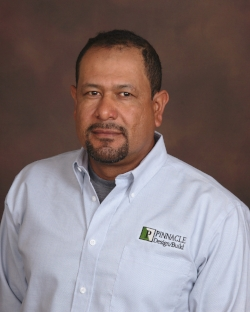 Rony Ruiz serves as a Project Superintendent for Pinnacle Design/Build Group, Inc. Mr. Ruiz has been with the company for over ten years, and is one of the top performing Superintendents of Pinnacle Design/Build Group, Inc. Mr. Ruiz has been recognized as the leader in job site safety and performance for Pinnacle Design/Build Group, Inc.  rruiz@pdbgi.com