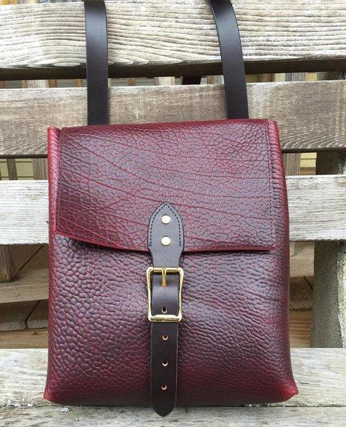 f27a465c1391 Black Cherry Leather Messenger Bag. Cherry messenger bag.jpg