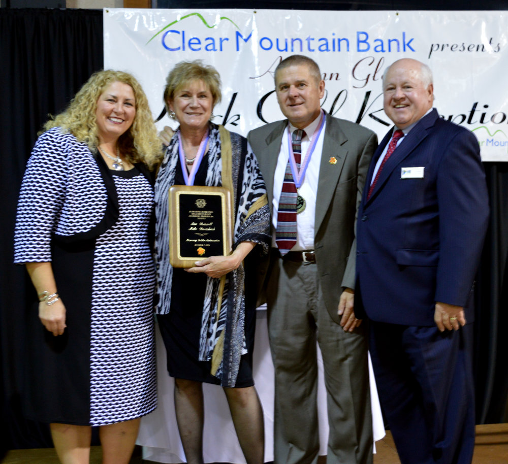 Garrett County Chamber of Commerce President & CEO Nicole Christian, Jan & Mike, and Chamber of Commerce Board Chairman Jim Bailey