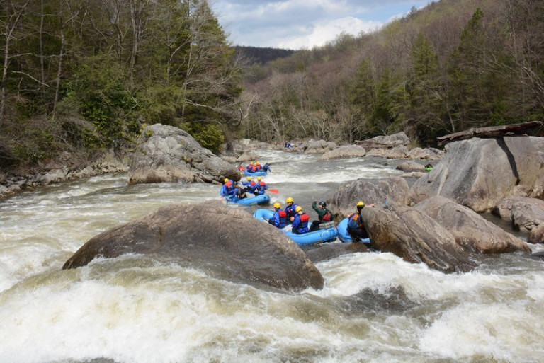 Rafting the Upper Yough with Precision Rafting