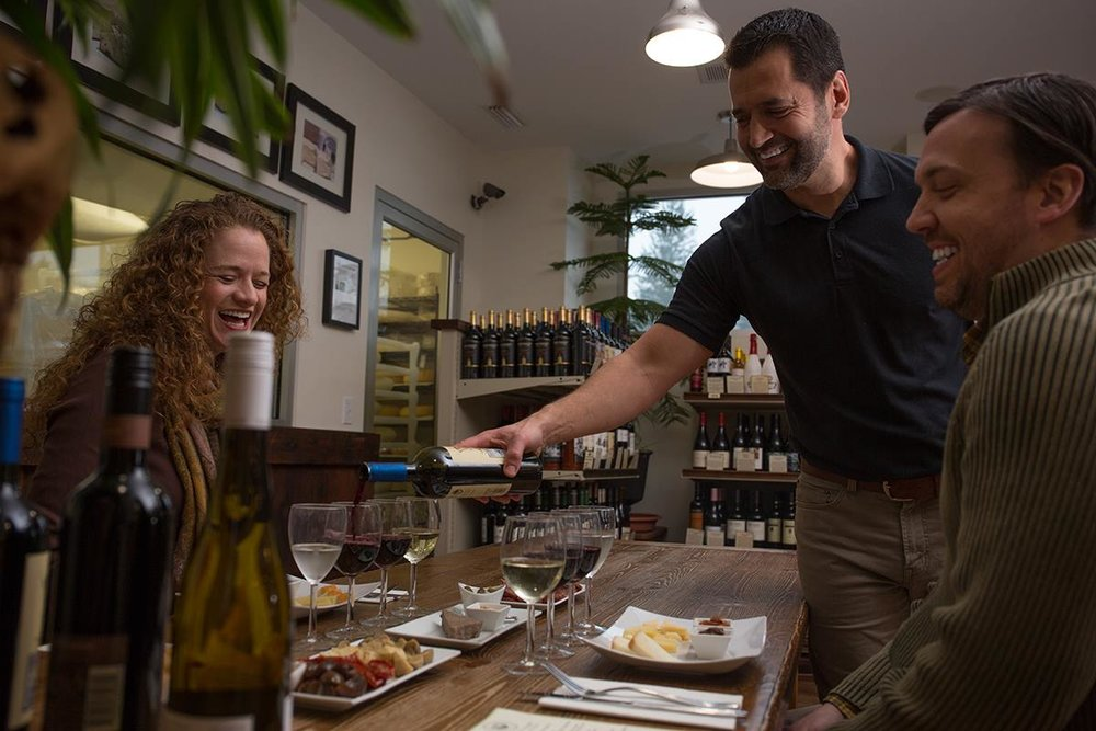 Wine & Cheese Pairing experience at FireFly Farms Creamery, photo from FireFly Farms