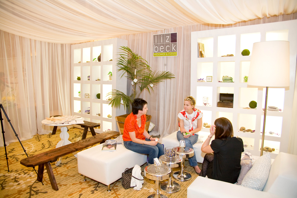 Consultation areas work well for experts and industry leaders like  Liz Beck Weddings & Events  at GREEN the 1st green bridal show in the country / The Wedding Party EXPO