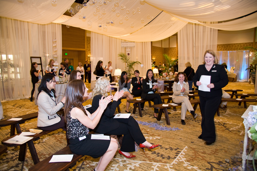 """Educational spaces and mini seminars make great showcases at shows and events like this """"Green Room' with experts offering 15 minute talks."""