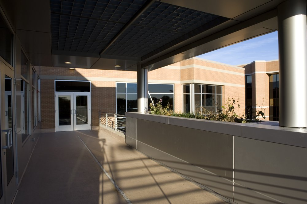 The Terrace provides light into the second floor, as well as a treatment area.