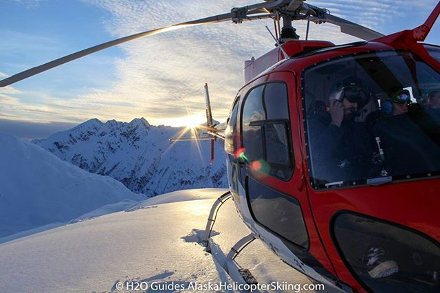 @dean__cummings captured this moment one evening in late March @h2oguides #valdez #alaska #heliskiing #chugach #heliski #alaskaheliskiing #heliskiingalaska #skiing