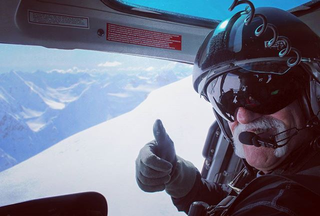 We love our B3 pilot Peter! Join us in Valdez and you might ride shotgun in the heli with Peter landing you on remote Chugach peaks.  @h2oguides @grivel @hestragloves @subqdesigns @freeride_ent @ortovox  #alaska #helicopter #skiing #valdez #chugach #mountains #alaskaheliskiing #alaskaheliboarding #snowboarding #skiing #heli