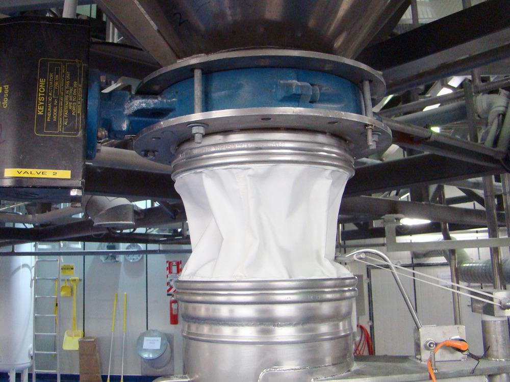 BFM Shut off valve to packing hopper