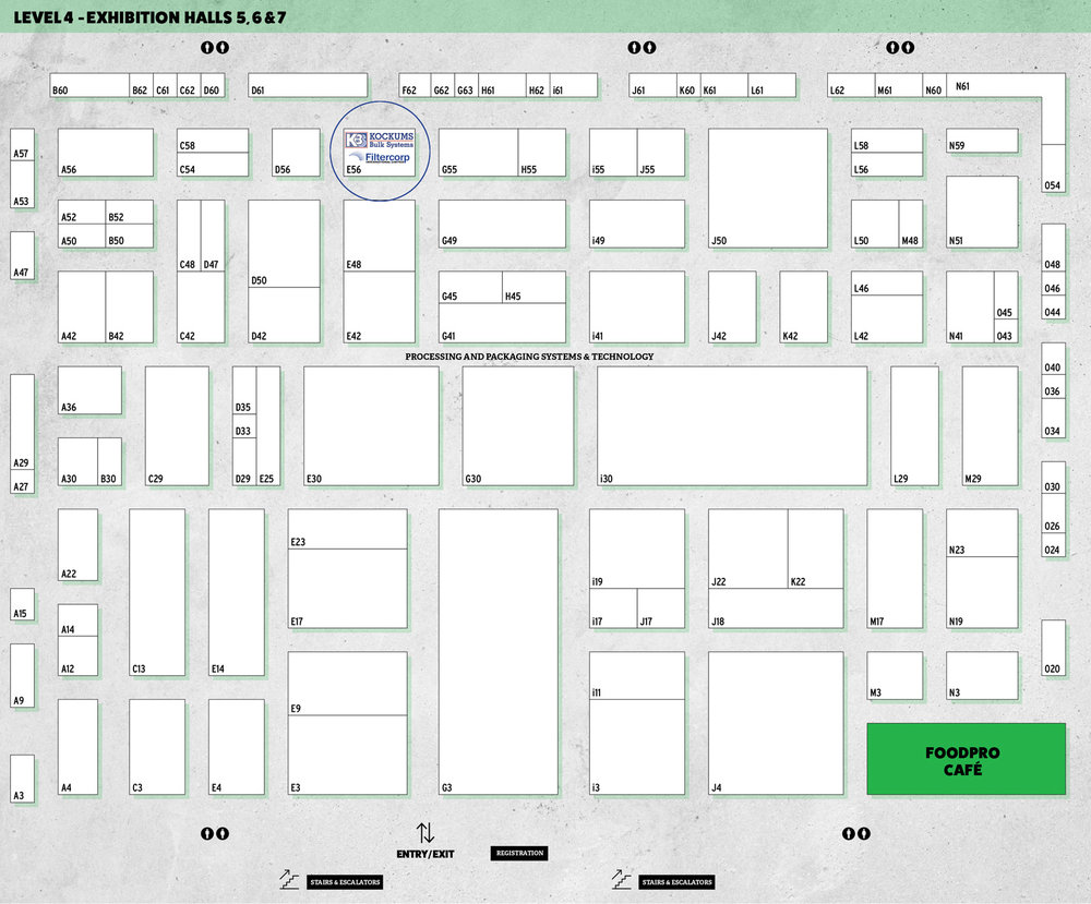 Kockums Filtercorp_Level-4-Floorplan at foodpro2017