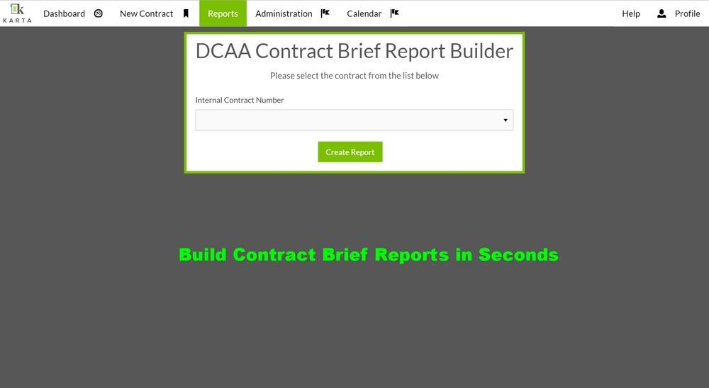 Karta Contract Data Managment Software