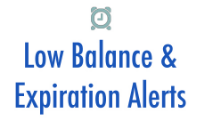Set balance and expiration thresholds to receive warning on low balances and approaching account expiration dates.    More...