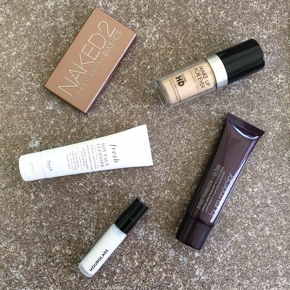 Maggie a la Mode Instagram Roundup - Urban Decay NAKED2 Basics, Hourglass Veil Mineral Primer, Fresh Soy Face Cleanser, Laura Mercier Tinted Moisturizer Oil Free, Make Up For Ever Ultra HD Invisible Cover Foundation