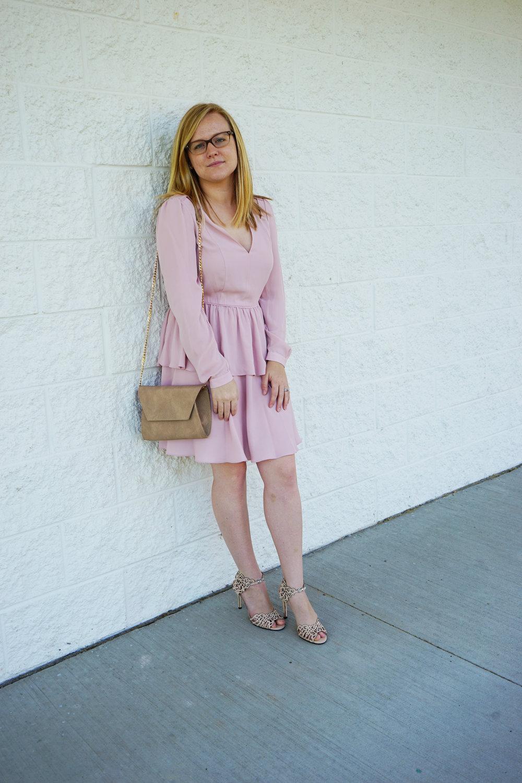 Rebecca Minkoff Jina dress, Klub Nico Moxie sandal heels, Urban Expressions Carissa, Nadri Starry Night Ear Crawlers - Maggie a la Mode