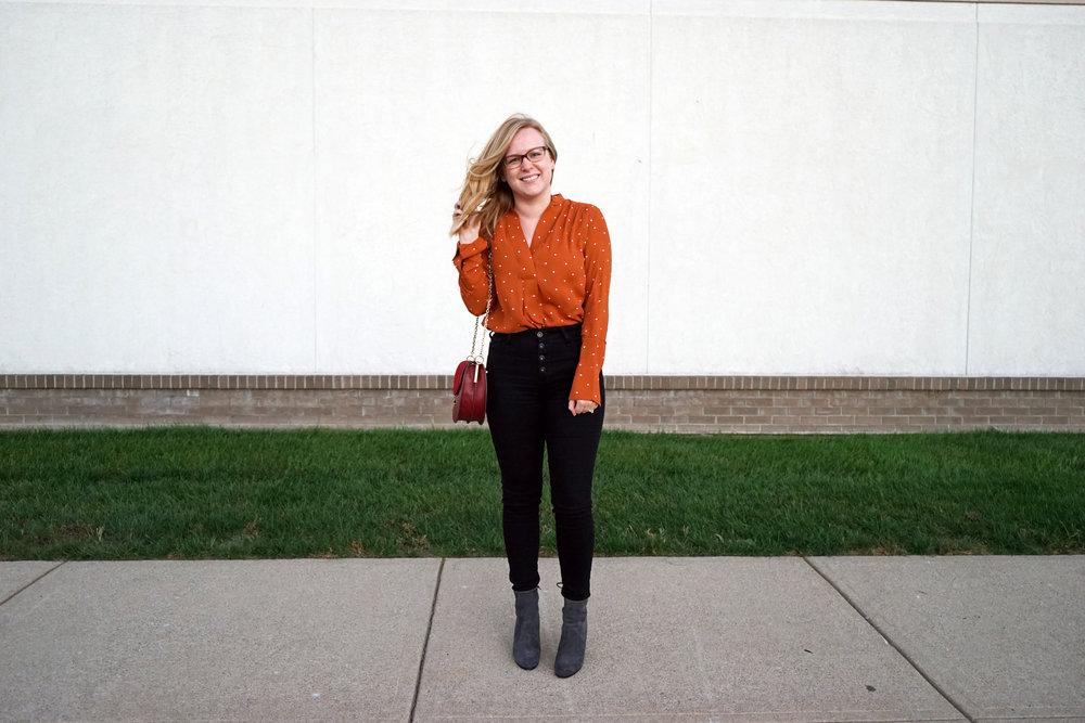 Maggie a la Mode - Pumpkin Polka Dot 7.JPG