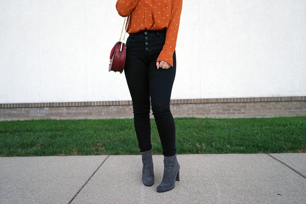Maggie a la Mode - Pumpkin Polka Dot 1.JPG