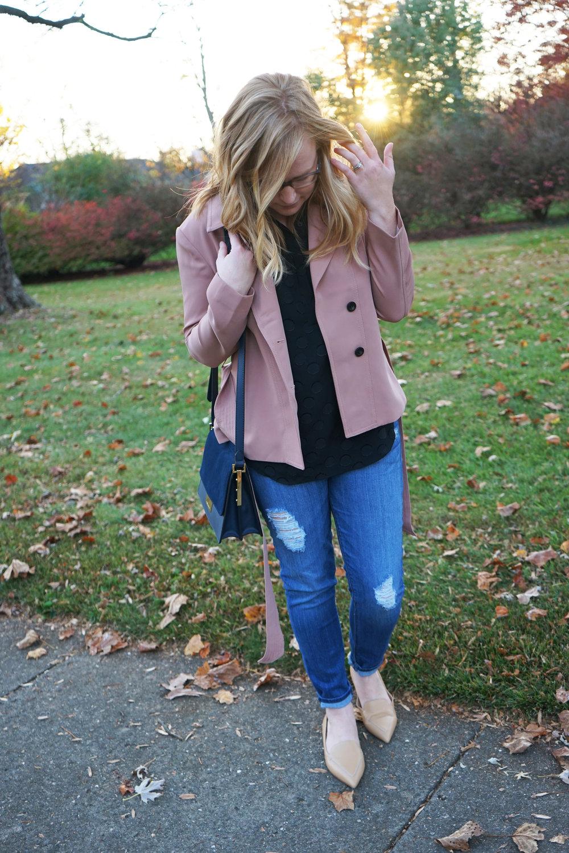 Maggie a la Mode - Ann Taylor Mini Trench Jacket 1.JPG