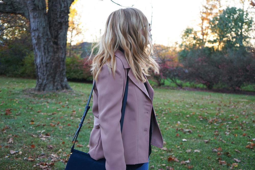Maggie a la Mode - Ann Taylor Mini Trench Jacket 4.JPG