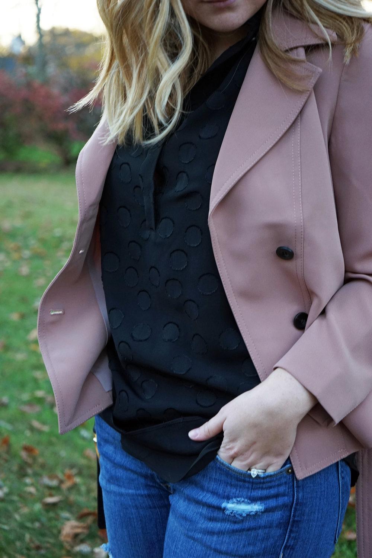 Maggie a la Mode - Ann Taylor Mini Trench Jacket 6.JPG