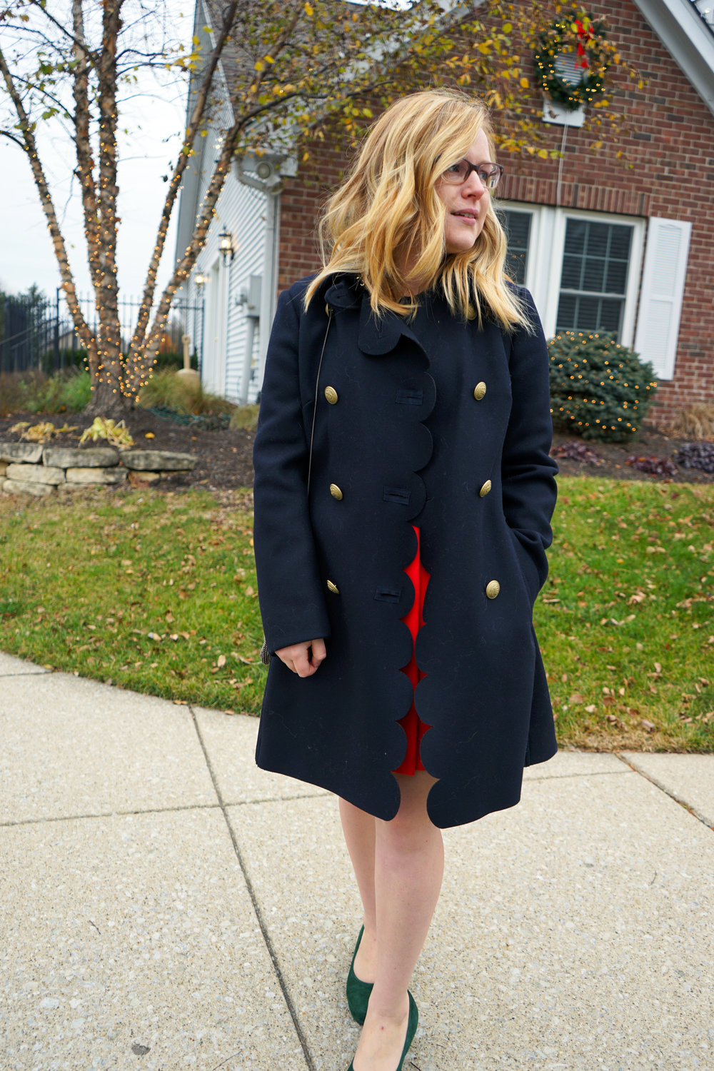 Maggie a la Mode - RED Valentino Scalloped Peacoat 3.JPG