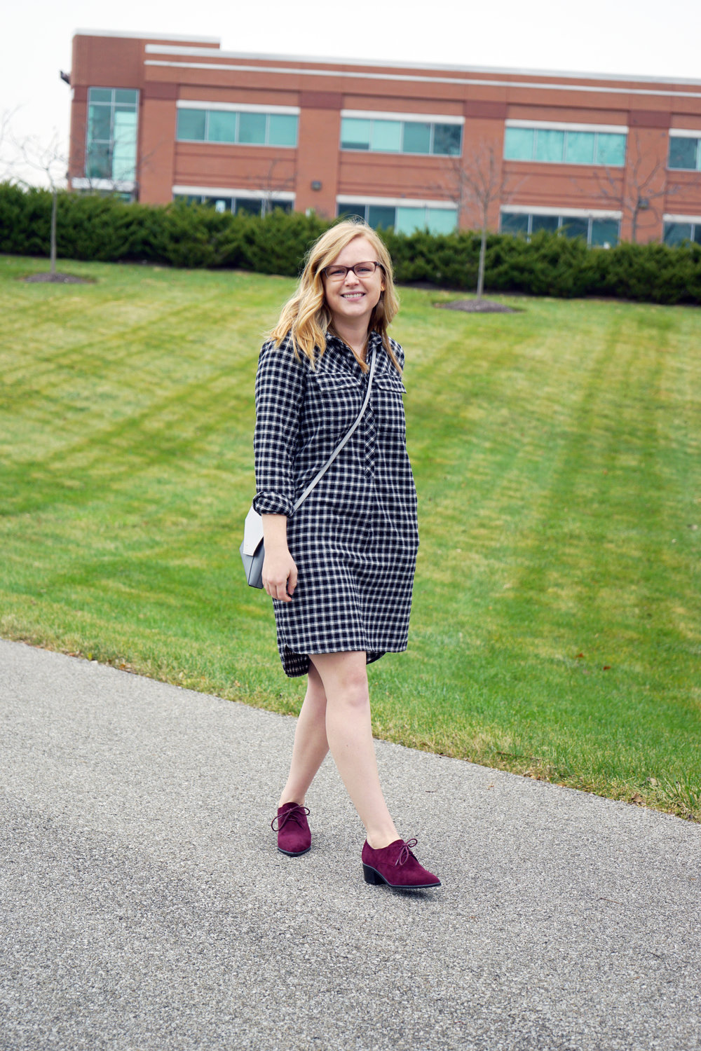Maggie a la Mode - Madewell Flannel Shirtdress 1.JPG