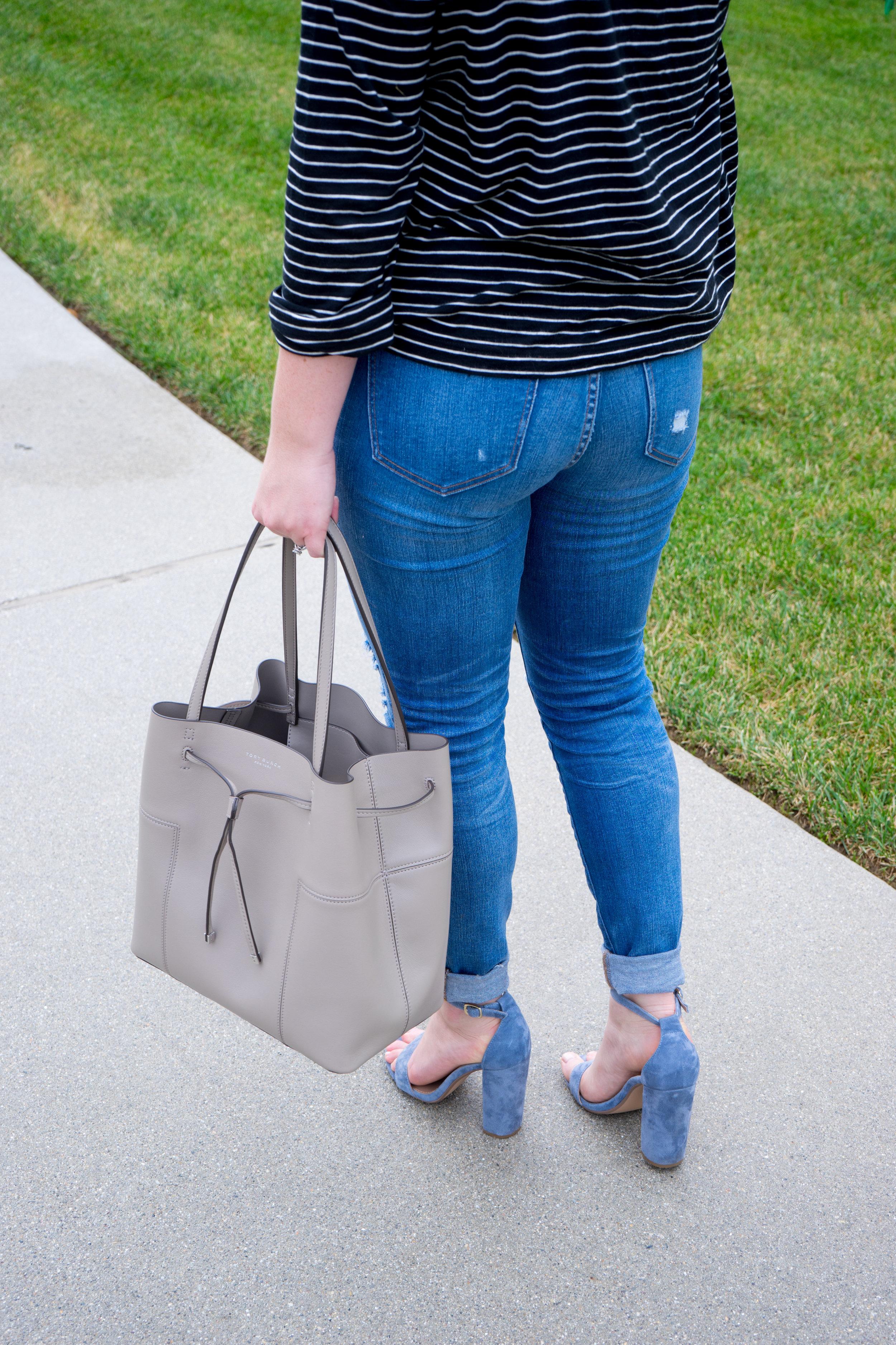 7b4cd5e8a0dc Tory Burch Block-T Bucket Bag — Maggie à la Mode