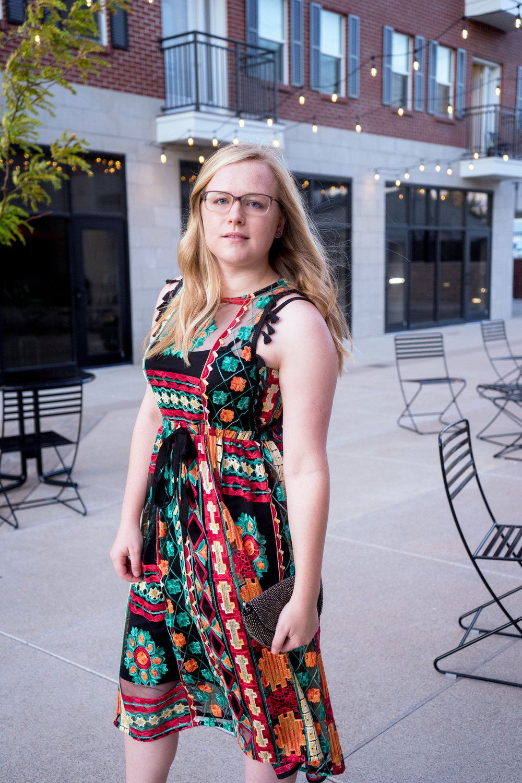 Maggie a la Mode - Anthropologie Eva Franco Saskia Embroidered Dress, Steve Madden Stecy Heels