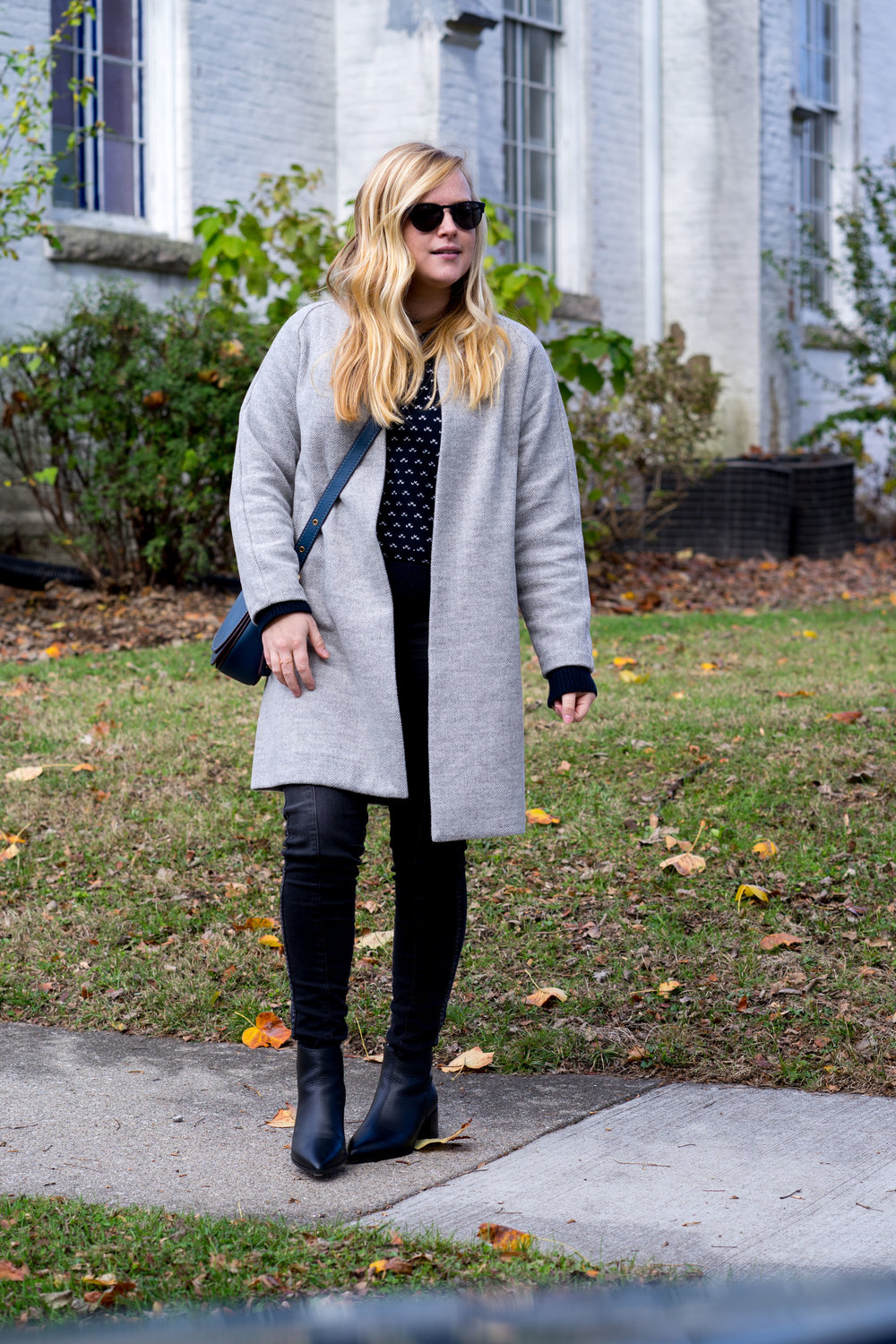 Maggie a la Mode - The Perfect Herringbone Coat Madewell Stanza Coat Everlane Boss Boot-2.jpg