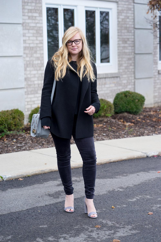 Maggie a la Mode - AG Farrah Velvet Skinny Jeans Theory Clairene-4.jpg