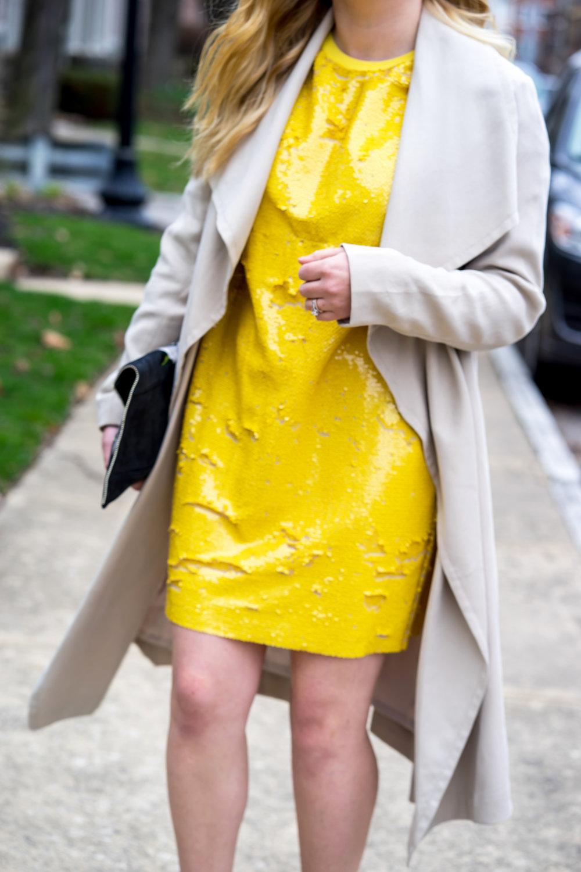 Maggie a la Mode - Be Bold Zara Yellow Sequin T Shirt Dress-7.jpg
