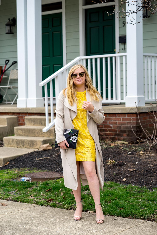 Maggie a la Mode - Be Bold Zara Yellow Sequin T Shirt Dress-1.jpg