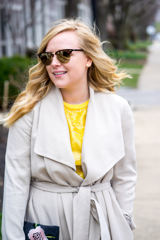 Maggie a la Mode - Be Bold Zara Yellow Sequin T Shirt Dress-4.jpg