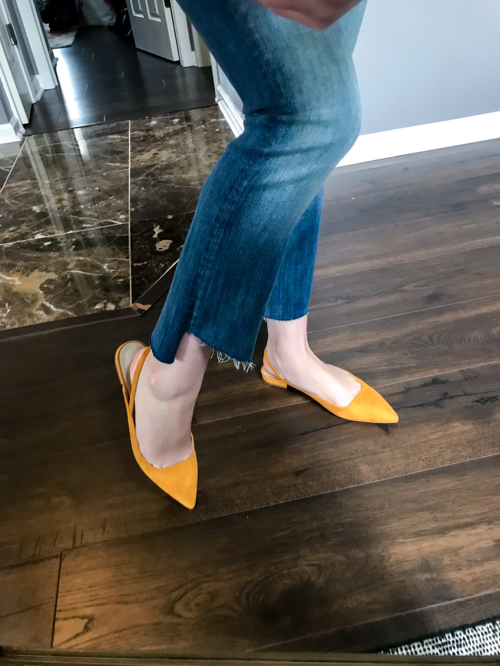 Maggie a la Mode - Recent Home Try-Ons Everlane Editor Slingback Flats.jpg