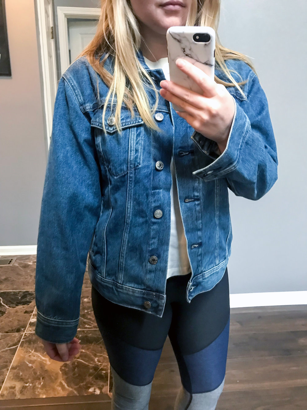 Maggie a la Mode - Recent Home Try-Ons Everlane Denim Jacket.jpg