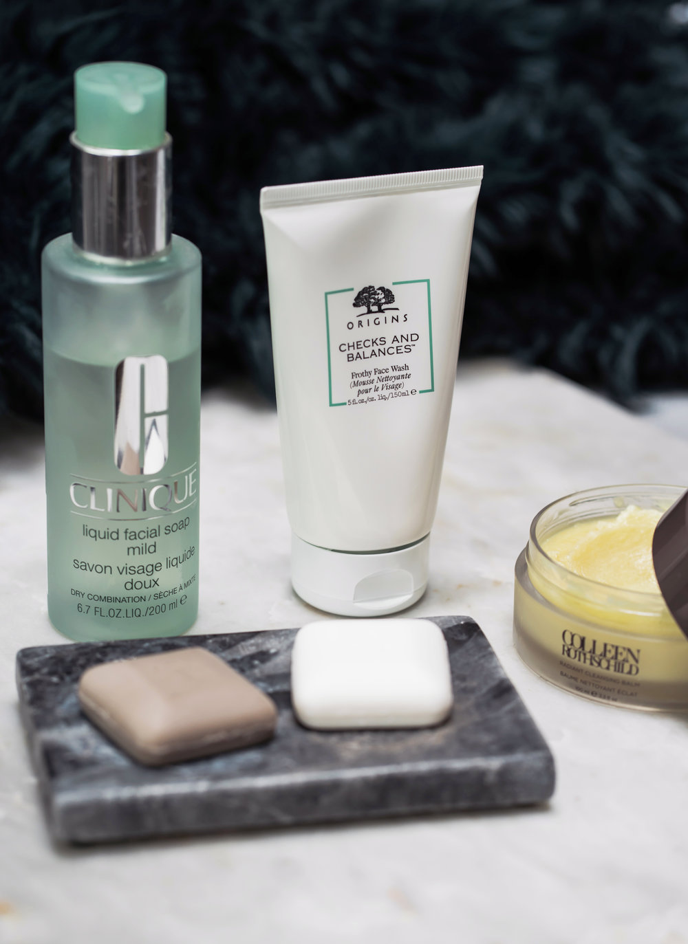 Maggie a la Mode - The Best Face Washes Sephora Ulta Nordstrom Beauty, Clinique Liquid Facial Soap, Colleen Rothschild Radiant Cleansing Balm, Drunk Elephant JuJu Bar, Drunk Elephant Pekee Bar, Origins Checks and Balances Frothy Face Wash