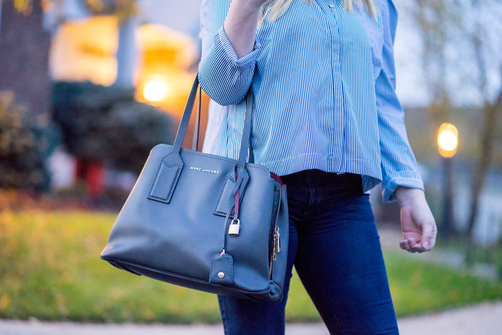 Maggie a la Mode - The Best Work Bags:  Marc Jacobs Editor Tote , Cuyana Work Satchel,  Madewell Transport Tote ,  Kate Spade New York Margaux Leather Satchel ,  Dagne Dover Classic Tote ,  Ann Taylor Pochette Tote Bag ,  Everlane Day Market Tote ,  Lodis Audrey RFID Jessica Work Satchel