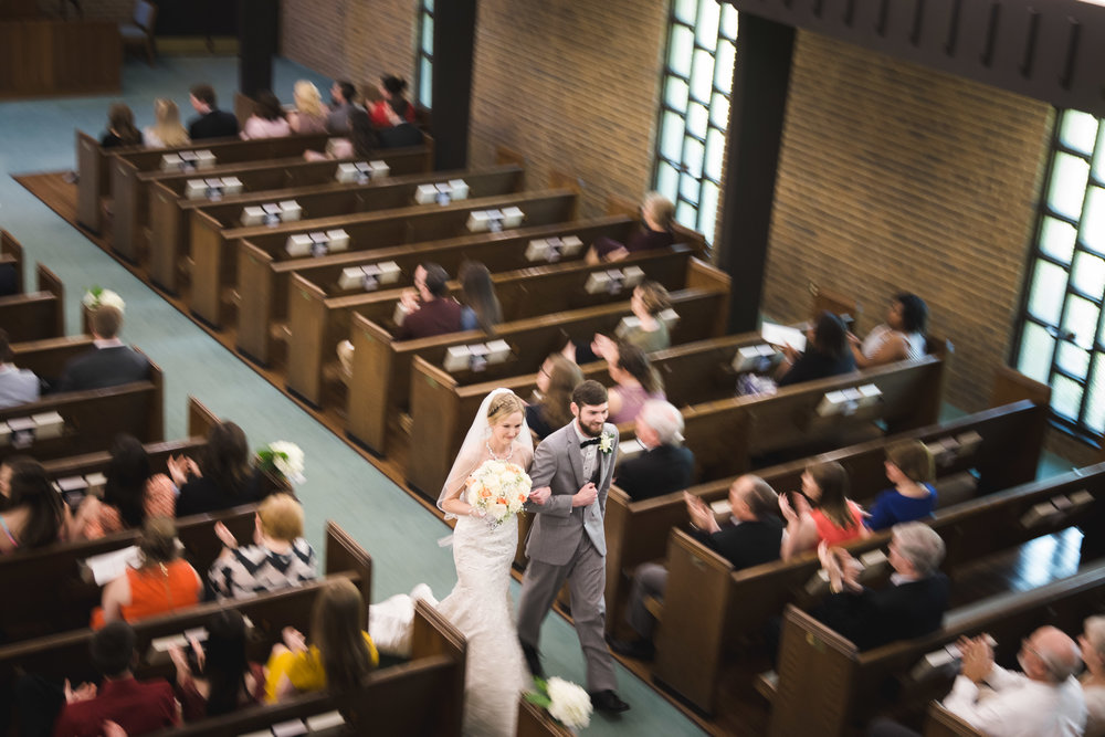 Greenville Wedding | Morningside Baptist Church Spartanburg SC Recessional