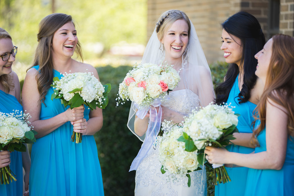Greenville Wedding | Morningside Baptist Church Spartanburg SC Bridal party