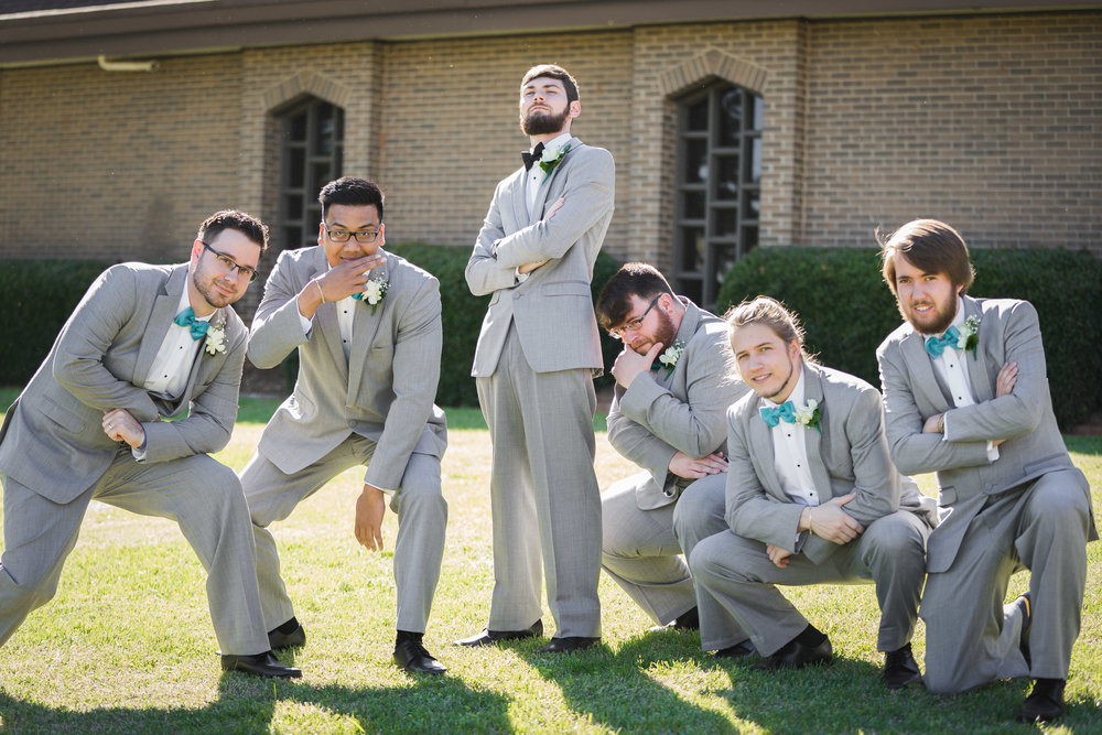 Greenville Wedding | Morningside Baptist Church Spartanburg SC Groomsmen