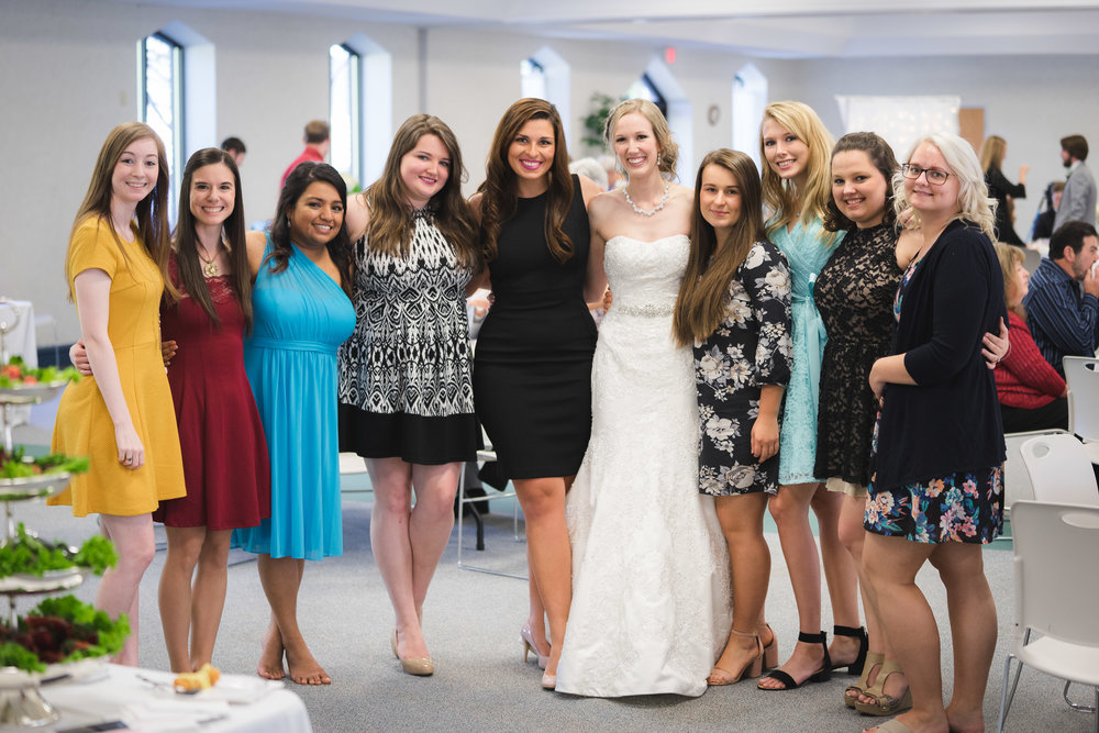Greenville Wedding | Morningside Baptist Church Spartanburg SC Reception Guests