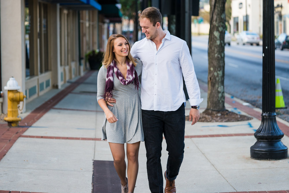 Downtown Greenville Engagement Photos | Chelsea + Keith